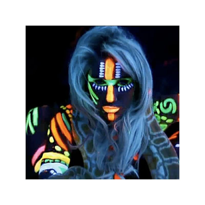 maquillaje pintura neon