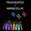 PENDIENTES LUMINOSOS LARGOS + HORQUILLA