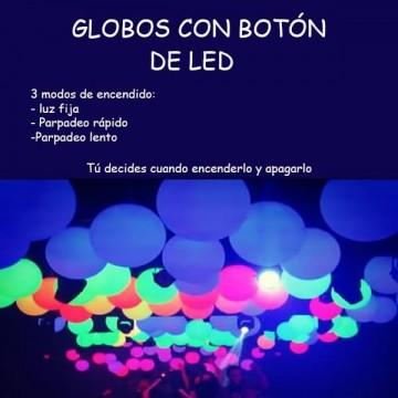 GLOBOS CON BOTON LED