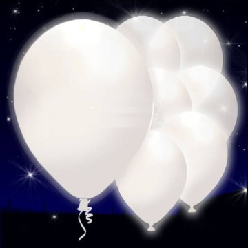 GLOBOS BLANCOS CON BOTON DE LED ON/OFF
