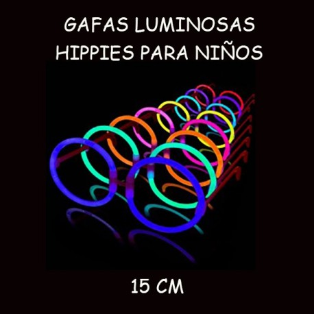 GAFAS LUMINOSAS HIPPIES PARA NIÑOS