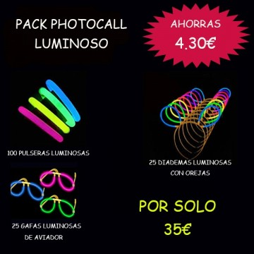 PACK PHOTOCALL LUMINOSO