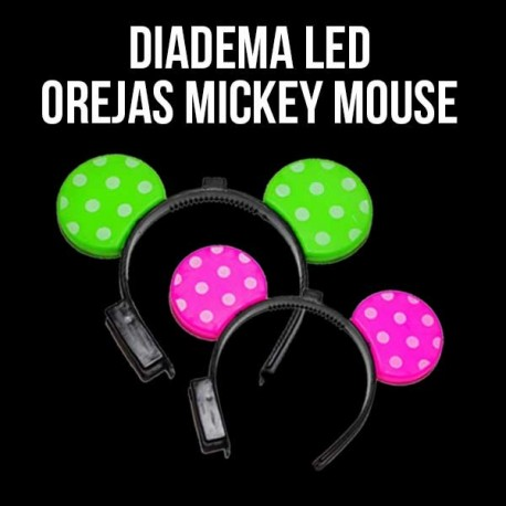 Diadema LED orejas Mickey Mouse